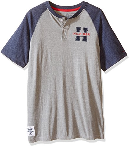 Tommy Hilfiger Little Boys' Carter Henley, Frost Grey, - Sale Tommy Kids