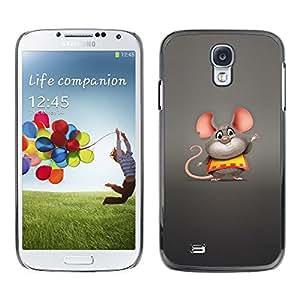 EJOY---Cubierta de la caja de protección la piel dura para el ** Samsung Galaxy S4 ** --Ratón de grasa