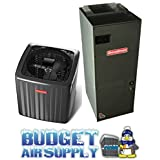 Goodman 3.5 Ton 15 SEER R410A Complete Split System Heat Pump SSZ140421, ASPT48D14