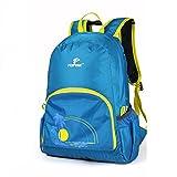 TOFINE Light Foldable Nylon Backpack Hiking Backpacking Blue 25L