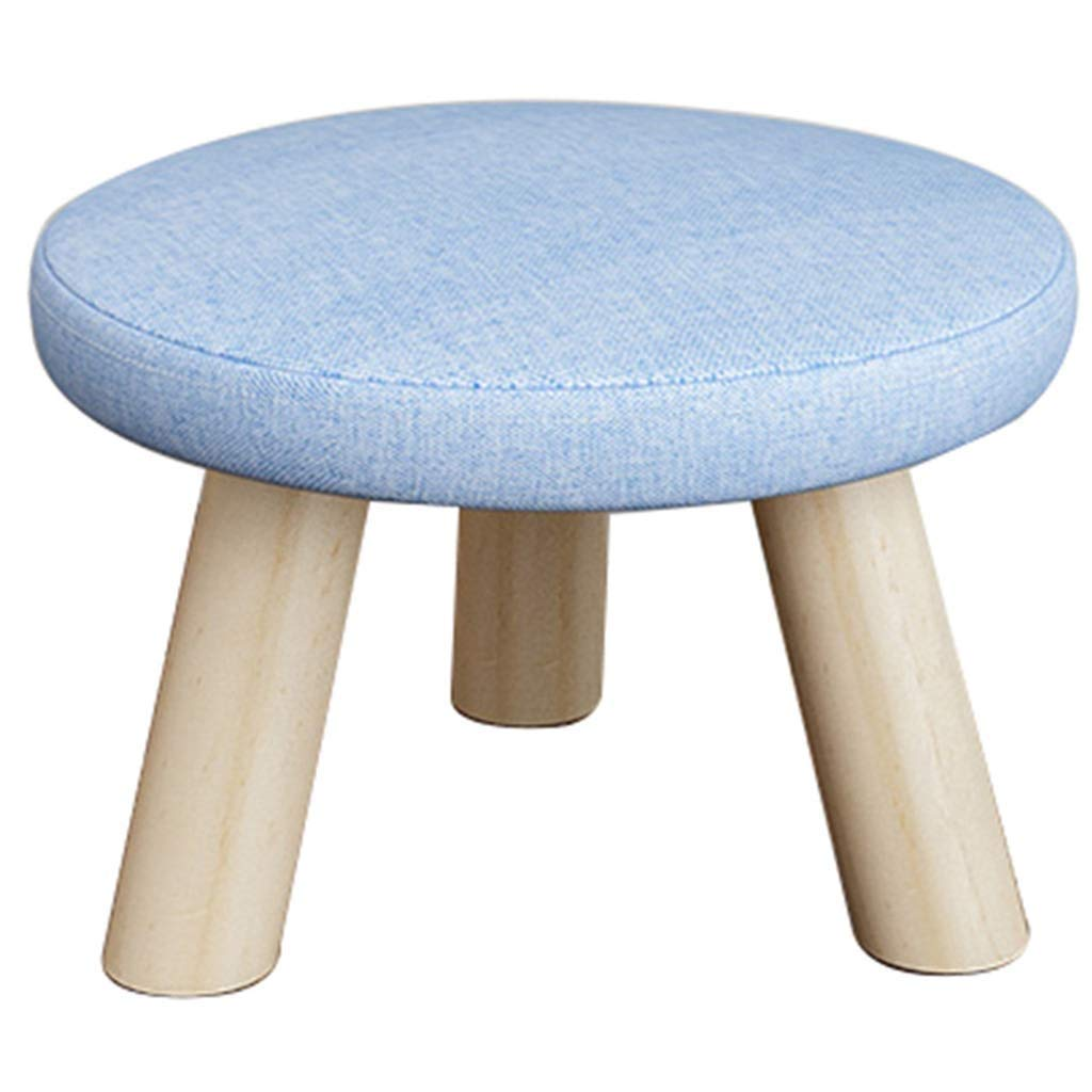 DHINGM Fashion Adult Mushroom Stool Creative Sofa Bench, Household Coffee Table Stool Adult Low Stool, Made of Wood and High-end Fabric, Durable, Non-Slip Design at The Bottom, Easy to Cl by DHINGM