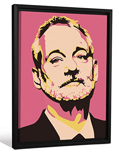 "JP London Framed Bill Murray Tribute Andy Warhol Painting Gallery Wrap Heavyweight Canvas Art Wall Decor, 26.375"" High x 20.375"" Wide x 1.25"" Thick"