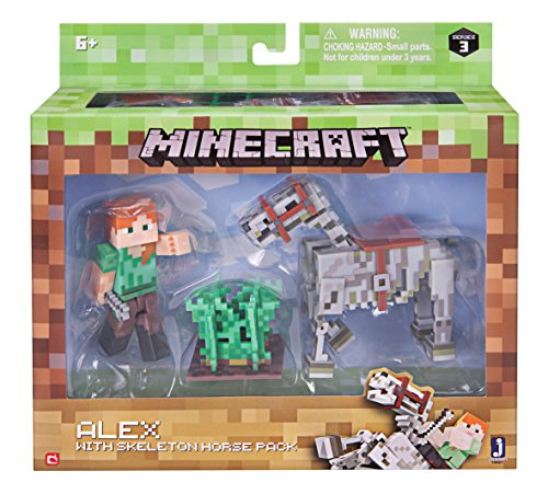 Minecraft Alex with Skeleton Horse Pack (Minecraft Toys Figures)