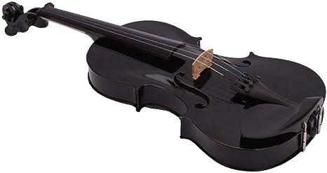 AMNVBD Violín acústico de tamaño completo 4/4 violín negro con estuche de resina AMNVBD: Amazon.es: Instrumentos musicales