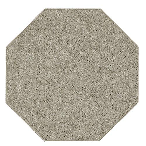 Ambiant Kids Solid Color Beige 6' Octagon - Area Rug ()