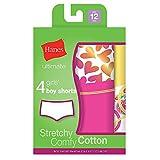 "Hanes Ultimateâ""¢ Tagless Cotton Stretch Girls' Boy Shorts 4-Pack"