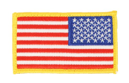 USA Flag Embroidered Velcro Shoulder Patch - 3.5