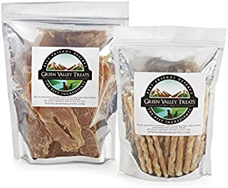 product image for Green Valley Treats Chicken Lovers Combo Pack for Small Dogs, 50 Chicken Wrapped Chews + 10 oz. of Chicken Jerky