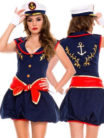 Women's Captivating Captain Costumes (Captivating Captain Sailor Costume - XLARGE)