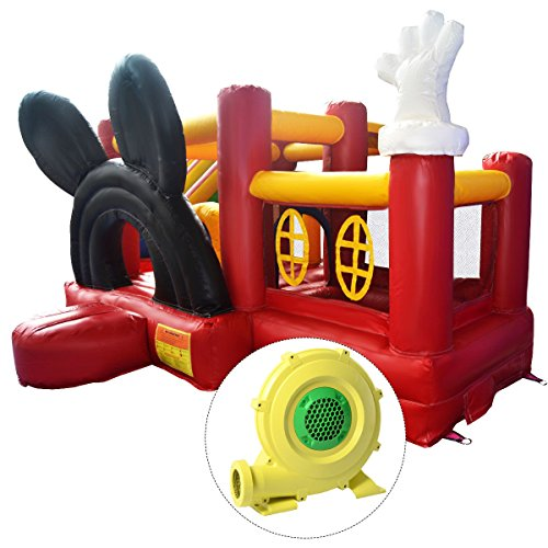Giantex Inflatable Micky Bounce House Castle Jumper Moonwalk Bouncer w/ 950W Blower (Jumpers Inflatable)