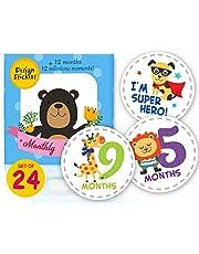 Baby Milestone Monthly Stickers 24pcs