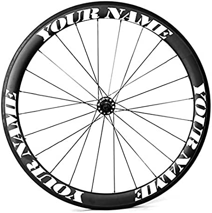 Bike wheels 700c custom made decals stickers Kit  any depth X 8 stickers