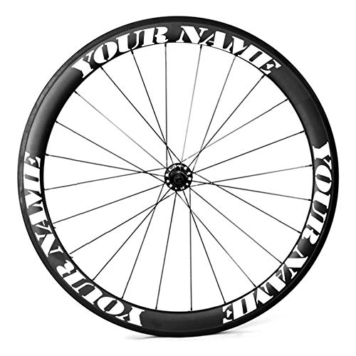 catazer Customize Bicycle Wheel Stickers Cycle Bike Rim Decals for Rim Size 700c 29r 27.5er 26er Over 20 Fonts