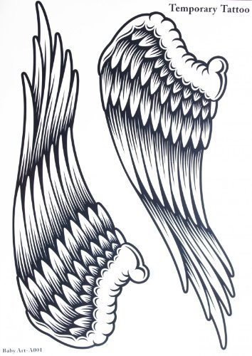 Spestyle new design hot selling fashionable large Angel wings temporary tattoo sticker for - Large Skin Angel