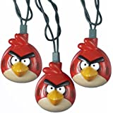 Kurt Adler UL 10-Light Injection Mold Angry Birds Light Set