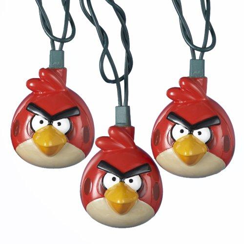 Kurt Adler UL 10-Light Injection Mold Angry Birds Light Set by Kurt Adler