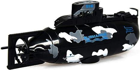 TARTIERY Mini Giocattolo Sottomarino Telecomando RC Sottomarino Modello di Barca da Turismo Subacqueo Giocattolo Veicolo per Bambini Modello di Nave Elettronico Sommergibile 15 6.8 4.5cm