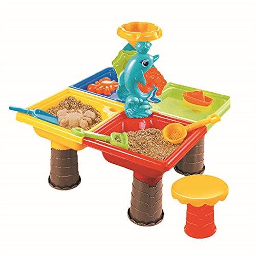 Sand Water Play Table , Kids Beach Play Set Toys Garden Sandpit Sandbox Desk Toys Toddler Aquatic Arena Sandbox Activity Play Set by TiTa-Dong by TiTa-Dong