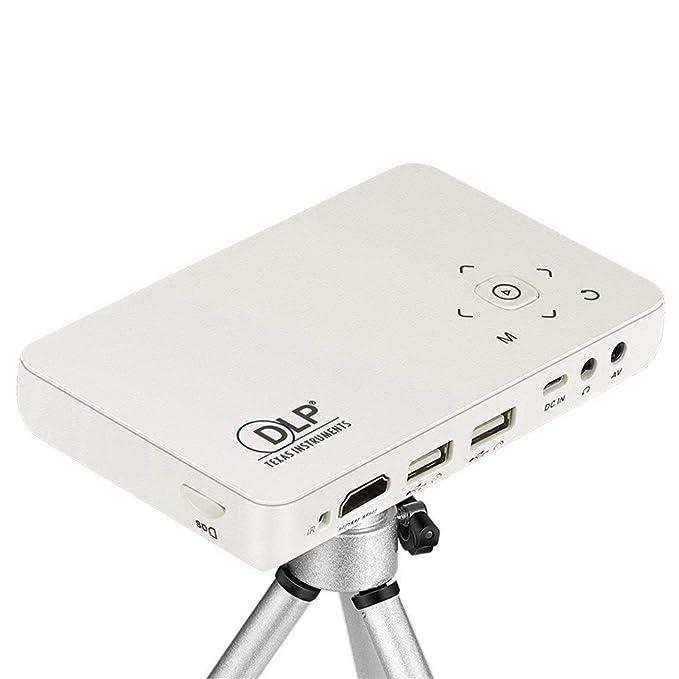 Proyector, Portátil Mini Wifi Inalámbrico Android DLP Inteligente ...