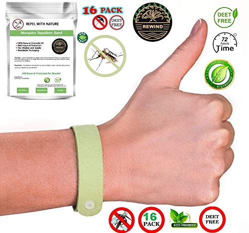 - Mosquito Repellent Bracelet Insect 16 Pack Long Lasting for Kids & Adults Organic Bug Wrist Ankle Band Natural Products Travel Pendants Safe Eco Friendly Resealable