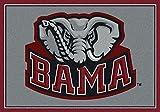 Alabama Crimson Tide NCAA College Team Spirit Team Area Rug 5'4''x7'8''