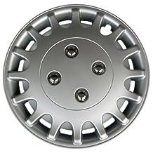"Drive Accessories KT-1018-13S/L, Nissan Sunny, 13"" Silver Replica Wheel Cover, (Set of 4)"