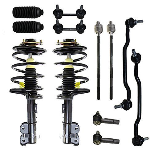 Detroit Axle - New 12-Piece Front Suspension Kit - All (4) Front and Rear Stabilizer Sway Bar Links, All (4) Outer and Inner Tie Rod, (2) Tie Rod Boots, (2) Front Struts: Maxima 04-08 (Front Strut Boot)