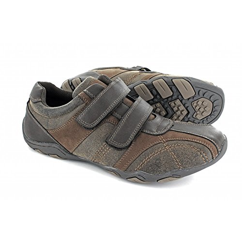 Brown Mens Waxy Brown DALE 21 Velcro Route Trainers Casual 8E0wnYa