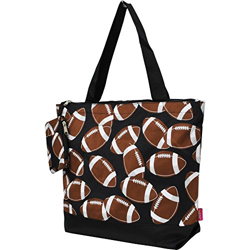 Football Print NGIL Canvas Tote ()