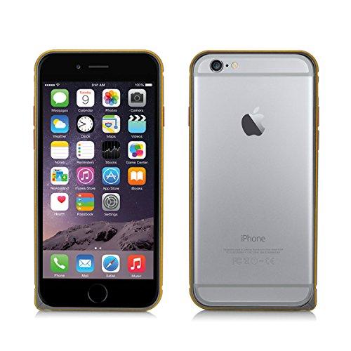 Alienwork Schutzhülle für iPhone 6 Ultra-flach Hülle Case Bumper Aluminium grau AP604-05