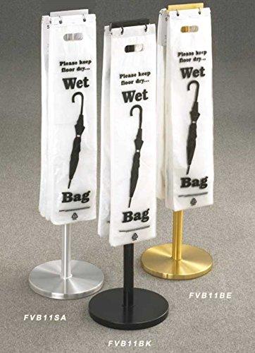 Wet Umbrella Bag Holder Satin Aluminum Finish