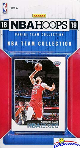 New Orleans Pelicans 2018/2019 Panini Hoops NBA Basketball EXCLUSIVE Factory Sealed Limited Edition 8 Card Team Set with ANTHONY DAVIS, Jrue Holiday, Nikola Mirotic, Julius Randle & Many More! WOWZZER