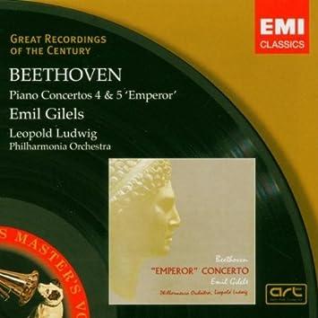 BEETHOVEN: Piano Concerto Nos 4 & 5 / Philharmonia Orchestra, Ludwig, Gilels  - Emil Gilels (Piano), Ludwig van Beethoven, Leopold Ludwig, Philharmonia  Orchestra: Amazon.de: Musik