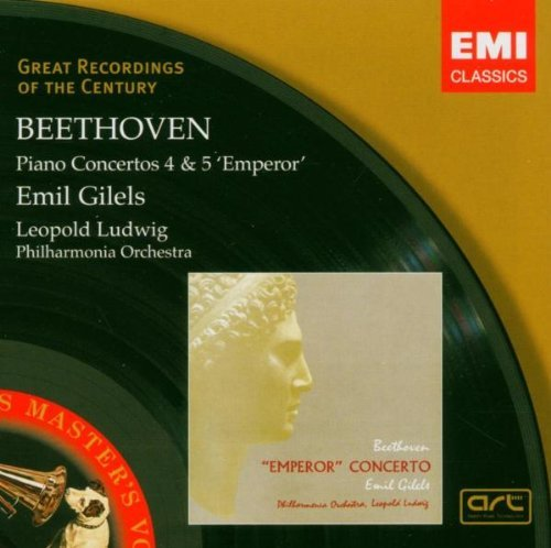 BEETHOVEN: Piano Concerto Nos 4 & 5 / Philharmonia Orchestra, Ludwig, Gilels