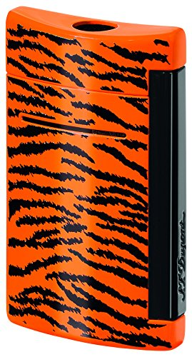 S.T. Dupont MiniJet Black and Orange Tiger Pattern Torch Flame Lighter by S.T. Dupont (Image #1)