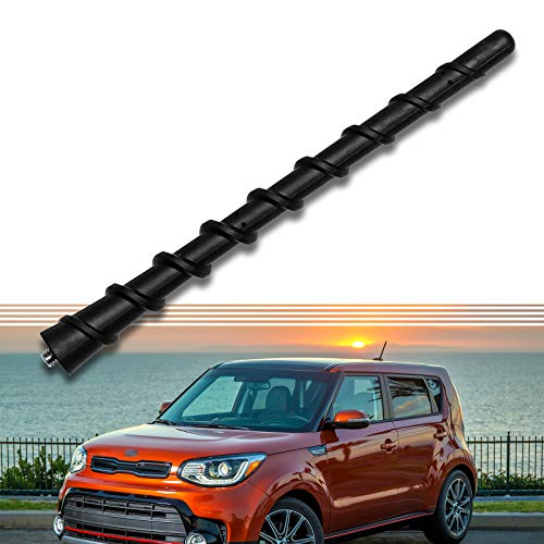 7-Inch Rear Roof Antenna Mast Perfect Compatible for Hyundai KIA Optima 2012 2014 Sorento Soul Sportage Forte Rondo KX Cross - Replaces OEM # 96215-2P000 Spiral Rubber Top Pole Replacement