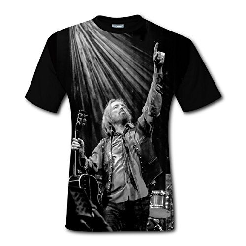 Tom Petty Men T-shirt New Style Cool Tee Shirt Youth Short Sleeve Costumes Rose Memery DIY Fashion Fit For Man Men Teen Junior Black (Cool Costumes For Work)