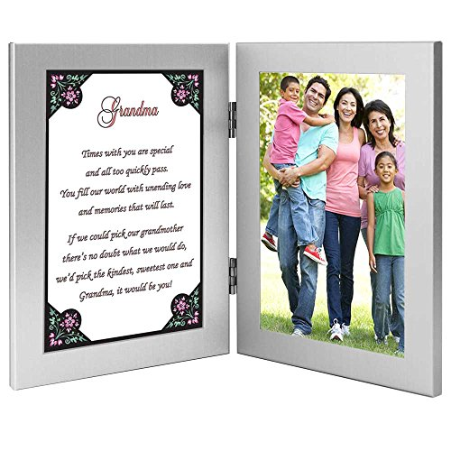 Grandmother Gift - Sweet Grandma Poem Frame, Birthday or Christmas, Add Photo