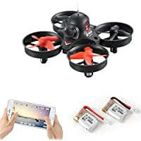 Mini FPV WiFi Drone Wide Angle Lens Camera Quadcopter Remote & APP Controlled Helicopter 2.4GHz Headless Mode Altitude Hold One-Key Function