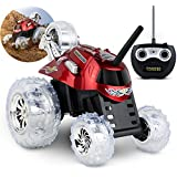 Sharper Image RC Cars Remote Control Car for Kids, Truck 27MHz Best Childrens Spinning 360 Flip Multi-Player Race Toy for Boys, Girls, Perform Stunts with 5th Wheel, (RED)