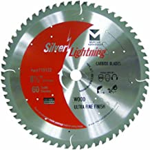 Mercer Industries Silver Lightning Saw Blade 8-1/2-Inch x 5/8-Inch 60 ATB Wood Cutting Ultra-Fine Finish