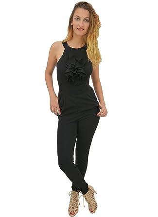 LNoir 40 Pantalon Combinaison Noir Froufrou 3cTlKFJ1