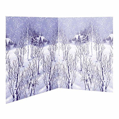 Winter Wonderland Scene Setters Plastic Room Rolls Wall Decoration, 1 Rolls, 4 x 40 Feet (Room Roll Setter Scene)