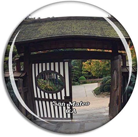 カリフォルニア州サンマテオ日本庭園米国冷蔵庫マグネット3Dクリスタルガラス観光都市旅行お土産コレクションギフト強い冷蔵庫ステッカー