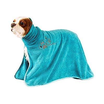 """'Show Tech® flauschiger microfibra de perros Albornoz/hundebade Poncho """"Dry Dude (turquesa)"""