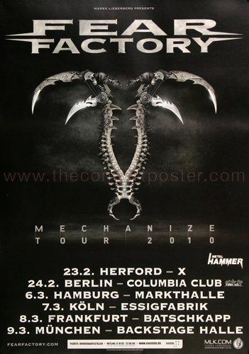 Poster Fear Factory - Fear Factory - Mechanize 2010 - Poster, Concertposter, Concert