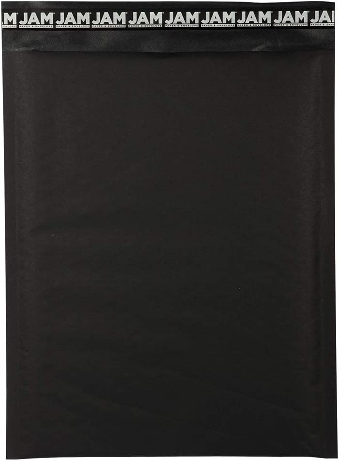 JAM PAPER Bubble Lite Padded Mailers - 10 x 13 - Black Kraft - 100/Pack
