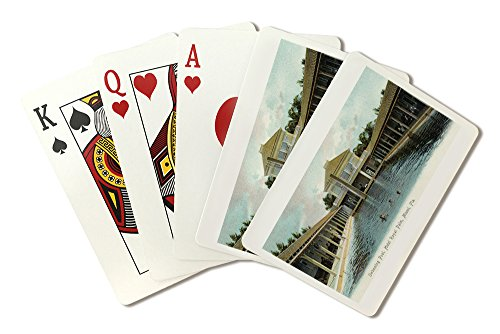 Miami, Florida - Hotel Royal Palm Swimming Pool Scene (Playing Card Deck - 52 Card Poker Size with Jokers)