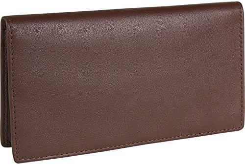 Royce Leather Checkbook & Credit Card Secretary