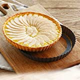 10 Inch Round Tart Pan with Removable Loose Bottom